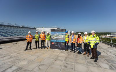 Manse Opus and Cadent celebrate the topping out of Cadent's new premises at Prospero Ansty Park